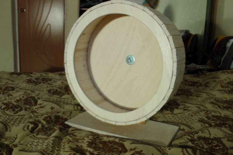 Деревянное колесо для шиншилл своими руками 36